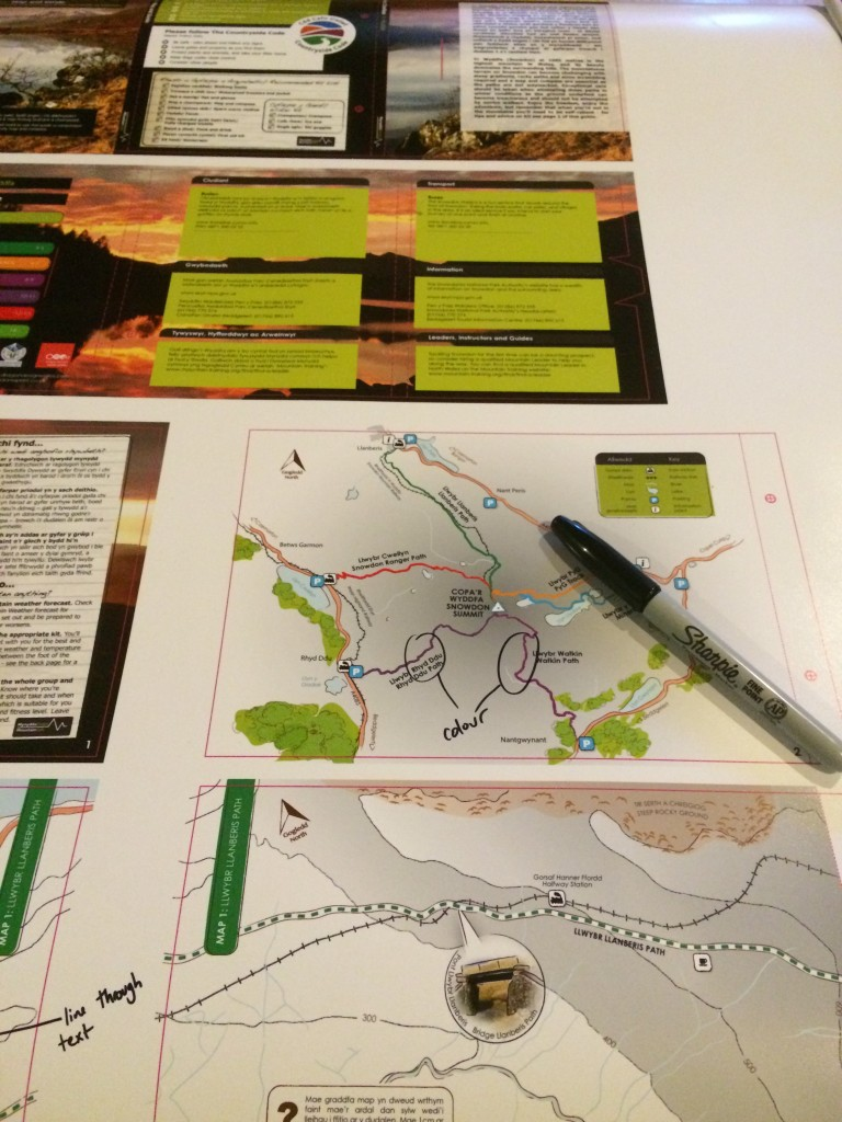 Making the final edits to the new Snowdon map