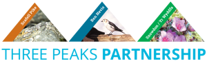 The new Three Peaks Partnership logo