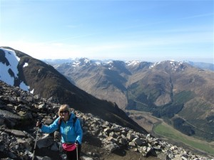 A Three Peaks Challenge group guided by RAW Adventures on Ben Nevis