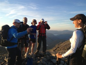 A Three Peaks Challenge group guided by RAW Adventures on Scafell Pike