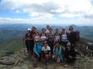 A Three Peaks Challenge group guided by RAW Adventures on Snowdon