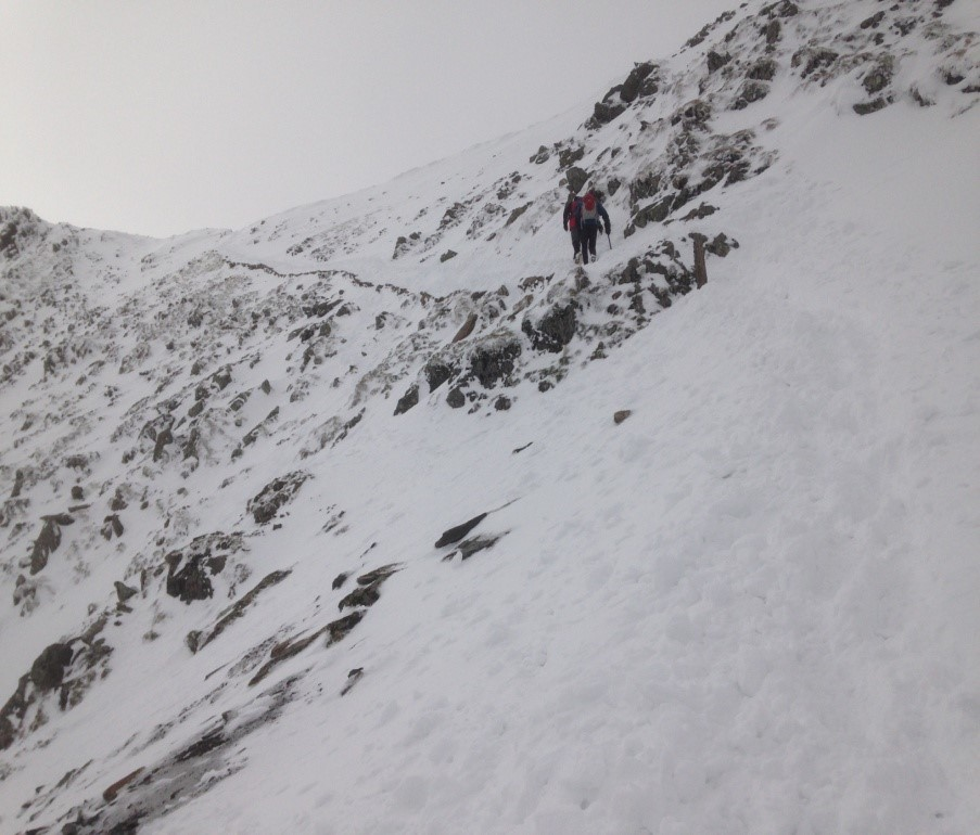 The PyG track in winter conditions
