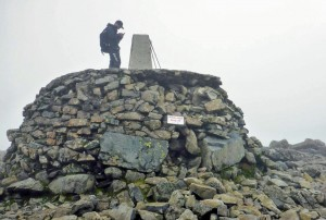 Trig point before repair work completed